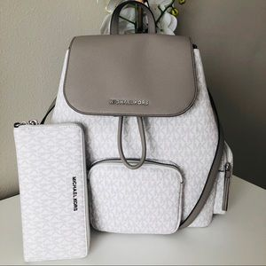 Michael kors Large Abbey Backpack & Large Wallet